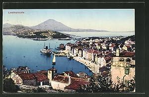 Ansichtskarte Lussinpiccolo, Teilansicht mit Blick aufs Meer