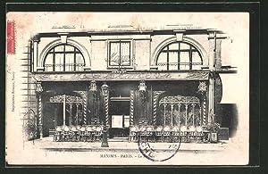 Carte postale Paris, Restaurant Maxim's, La Facade