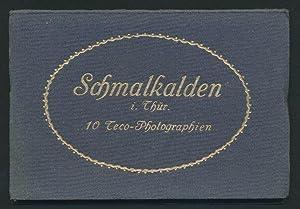Leporello-Album Schmalkalden, mit 10 Ansichten, Totalansicht, Pfaffengasse,