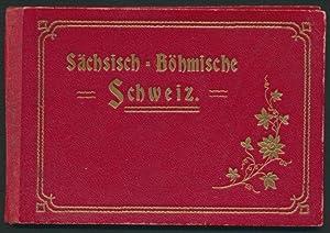 Leporello-Album Sächsisch-Böhmische Schweiz, mit 10 Ansichten, Königstein,