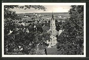 Ansichtskarte Mainburg, Ortspartie aus der Vogelschau
