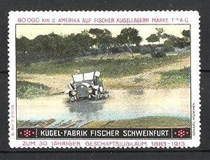 Reklamemarke Schweinfurt, Kugel-Fabrik Fischer FAG Kugellager, Fischer