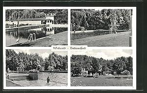 Ansichtskarte Wickrath, Badeanstalt, verschiedene Ansichten