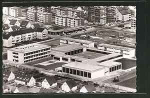 Ansichtskarte Langenhagen, Friedrich Ebert-Schule aus der Vogelschau