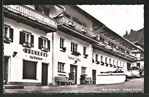 Ansichtskarte Bad Kohlgrub, Kurbad Sanitas und Bäckerei