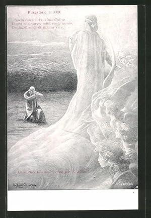 Künstler-Ansichtskarte Divina Comedia, Purgatorio, c. XXX, Sovra
