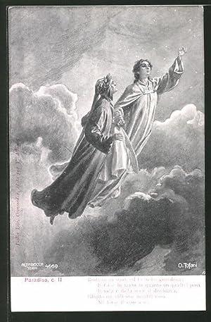 Künstler-Ansichtskarte Divina Comedia, Paradiso, c. II, Beatrice