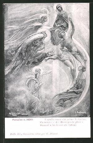 Künstler-Ansichtskarte Divina Comedia, Paradiso, c. XXII, E