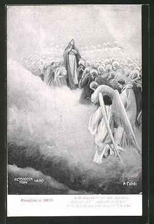 Künstler-Ansichtskarte Divina Comedia, Paradiso, c. XXIII, Indo