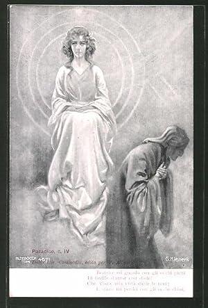 Künstler-Ansichtskarte Divina Comedia, Paradiso, c. IV, Beatrice