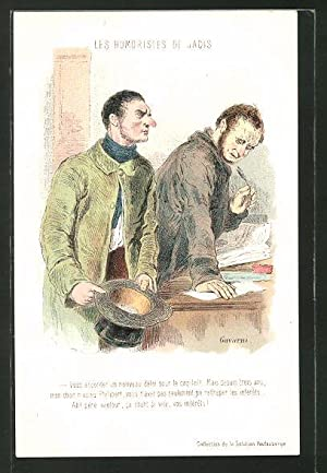 Künstler-Ansichtskarte sign. Paul Gavarni: Les Humoristes de