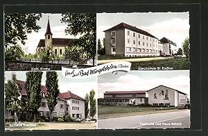 Ansichtskarte Bad Mingolsheim, kath. Kirche, Sanatorium St.