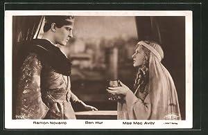 Ansichtskarte Ben-Hur, Roman Novarro und Mae Mac