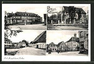 Ansichtskarte Bad Mingolsheim, Rathaus, Kurhaus Gantner und