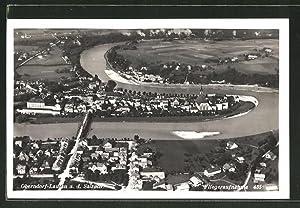 Ansichtskarte Laufen, Fliegeraufnahme von Oberndorf und Laufen