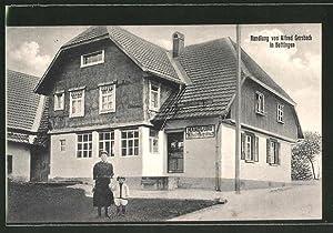 Ansichtskarte Hottingen, Blick auf Handlung von Alfred
