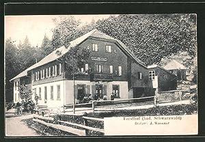 Ansichtskarte Mambach, Gasthof Forsthof von J. Wassmer