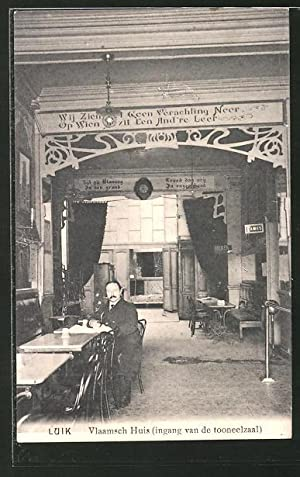 Ansichtskarte Luik, Vlaamsch Huis (ingang van de