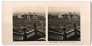 Stereo-Fotografie unbekannter Fotograf, Ansicht Frascati, Villa Torlonia,