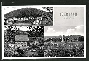 Ansichtskarte Löhrbach, Gesamtansicht, Gasthaus, Pension Löhrbacher Tal