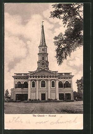 Ansichtskarte Meerut, The Church, Blick zur Kirche