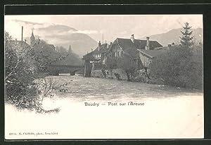 Ansichtskarte Boudry, Pont sur l'Areuse
