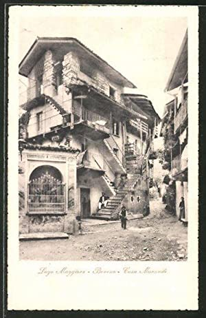Cartolina Baveno, Casa Morandi