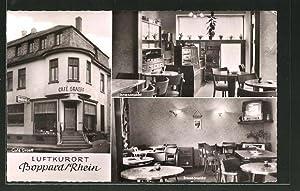 Ansichtskarte Boppard a. Rhein, Cafe Graeff, Gastraum