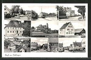Ansichtskarte Gablingen, Gasthaus zur Post, Hauptstrasse, Raiffeisenkasse