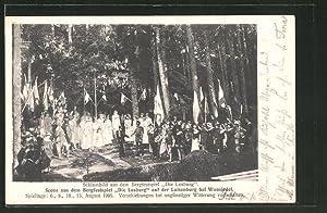 Ansichtskarte Wunsiedel, Szene aus dem Bergfestspiel Die