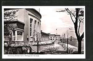 Ansichtskarte Homberg / Niederrhein, Partie mit Rheingarten-Terrasse