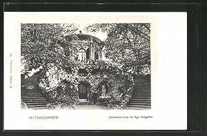 Ansichtskarte Veitshöchheim, Schneckenhaus im Kgl. Hofgarten