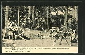 """Ansichtskarte Wunsiedel, Bergfestspiel """"Die Losburg"""""""