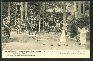 """Ansichtskarte Wunsiedel, Bergfestspiel """"Die Losburg"""", Weissagung der"""