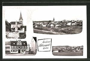 Ansichtskarte Holzappel / Lahn, verschiedene Ortsansichten, Kirche