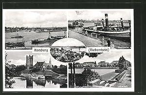 Ansichtskarte Homberg / Niederrhein, Bootshaus, Jugendherberge, Lutherpark,