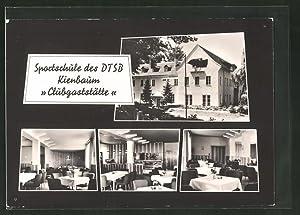 """Ansichtskarte Kienbaum, Sportschule des DTSB, """"Clubgaststätte"""" mit"""