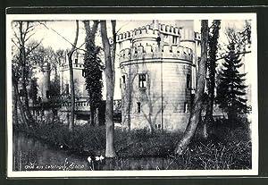 Ansichtskarte Letzlingen, Teilansicht vom Schloss