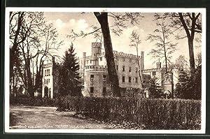 Ansichtskarte Letzlingen, Schloss mit Kriegerdenkmal