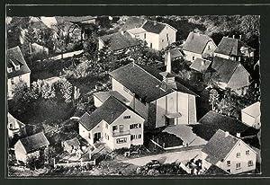 Ansichtskarte Menzingen, Teilansicht mit Filialkirche St. Anna,
