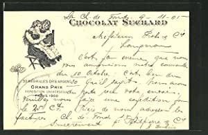 Ansichtskarte Chocolat Suchard, 33 Medailles Or, Argent, Grand Prix Exposition Universelle Paris ...