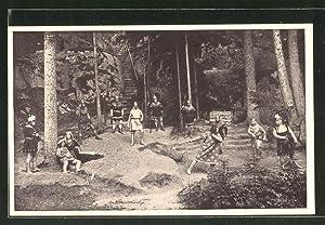 Ansichtskarte Wunsiedel, Naturbühne Luisenburg, Theaterszene aus dem