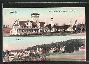 Ansichtskarte Westheim, Wallfahrtskirche u. Restauration a. d.