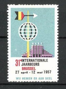 Reklamemarke Brussel, 31. Internationale Jaarbeurs 1957, Messelogo