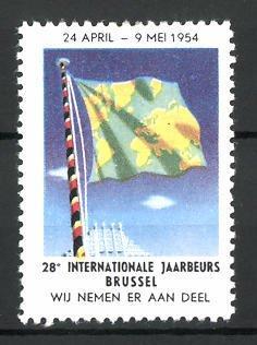 Reklamemarke Brussel, 28e internationale Jaarbeurs 1954, Messelogo