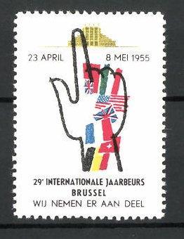 Reklamemarke Brussel, 29e Internationale Jaarbeurs 1956, Messelogo