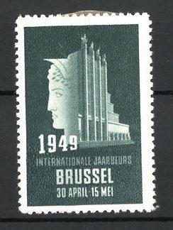 Reklamemarke Brussel, International Jaarbeurs 1949, Messelogo