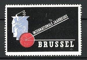 Reklamemarke Brussel, internationale Jaarbeurs, Messelogo