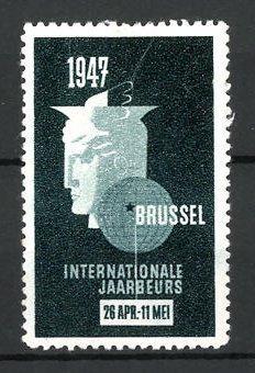 Reklamemarke Brussel, Internationale Jaarbeurs 1947, Messelogo