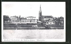 Ansichtskarte Homberg / Niederrhein, die Stadt im